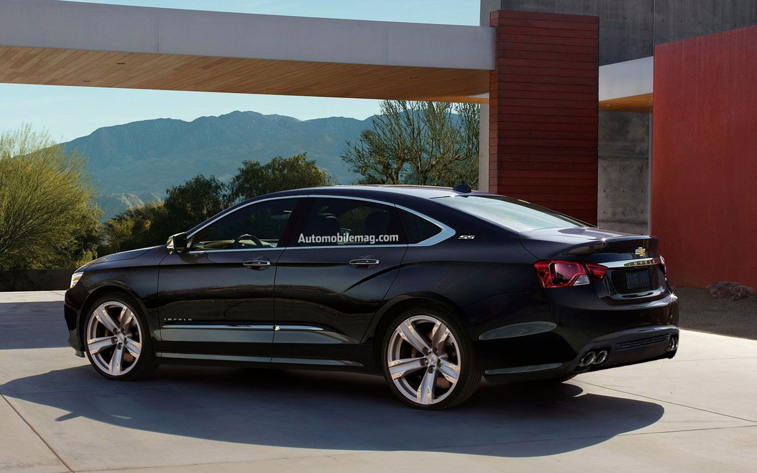 chevy impala ss rendering rear amag photo on april 23 2012 [ 1500 x 938 Pixel ]