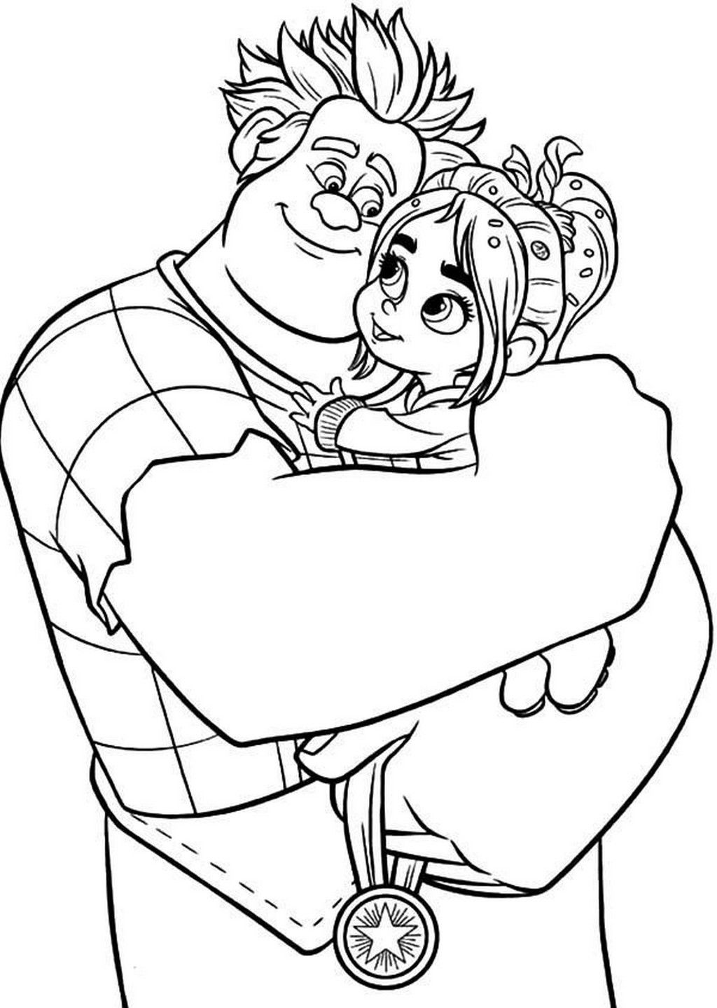 Wreck It Ralph Printable Coloring Pages For Kids