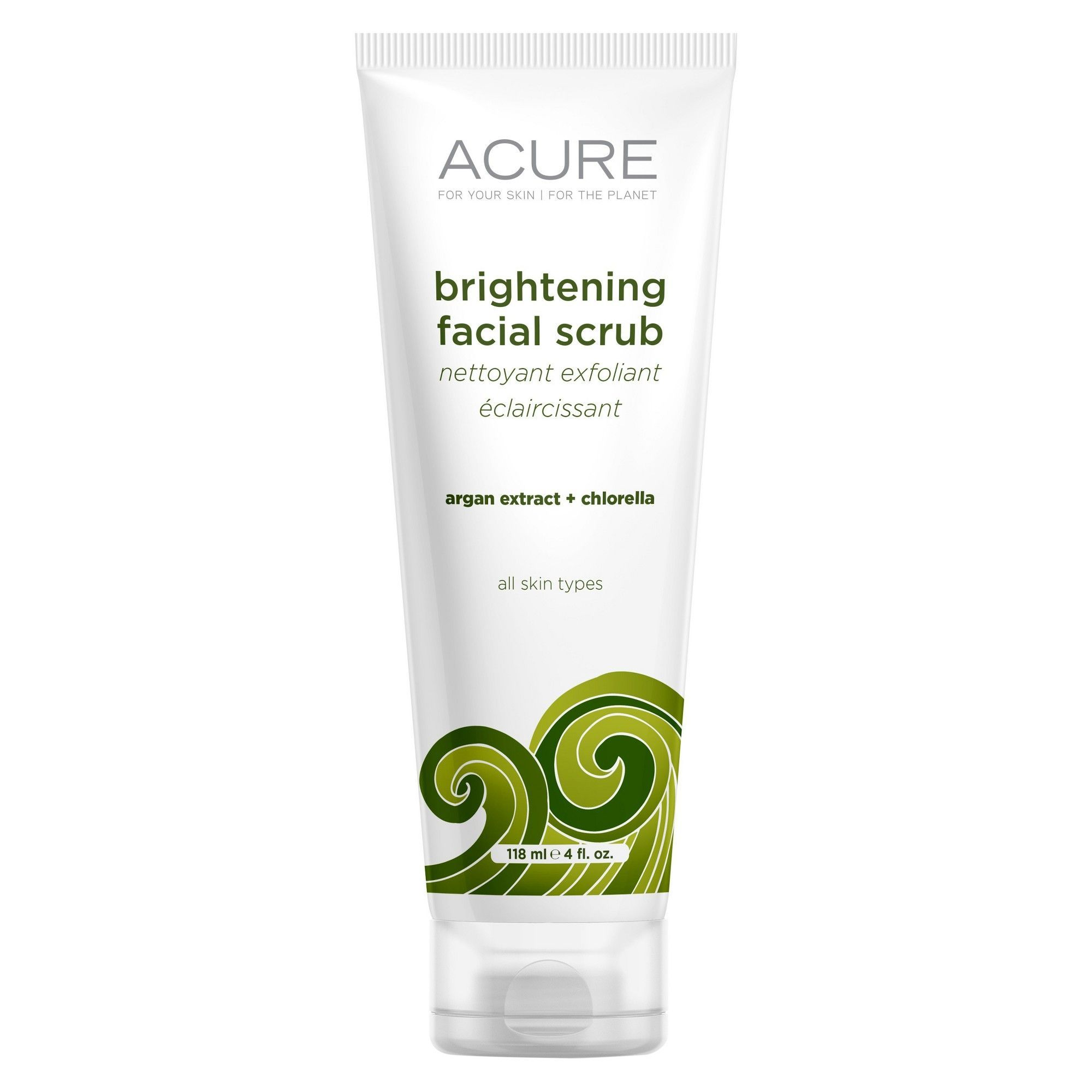 Acure Brilliantly Brightening Facial Scrub With Sea Kelp: Acure Organics Brightening Facial Scrub Sea Kelp + Cgf