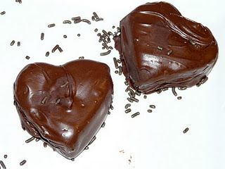 Chocolate & Peanut Butter Hearts - YUM!