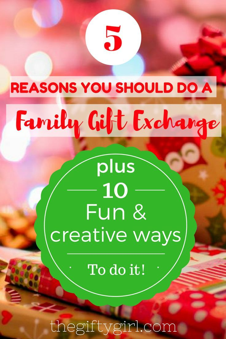 Family Gift Exchange, why and HOW | Pinterest | Christmas gift ...