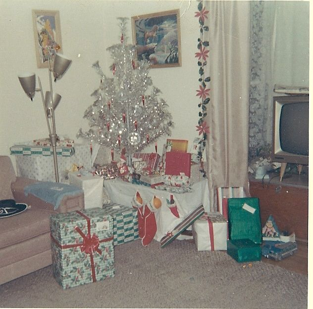 Vintage Christmas Photograph ~ A Living Room all ready for ...