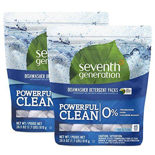 Seventh Generation Natural Dishwasher Detergent Packs 90 Count