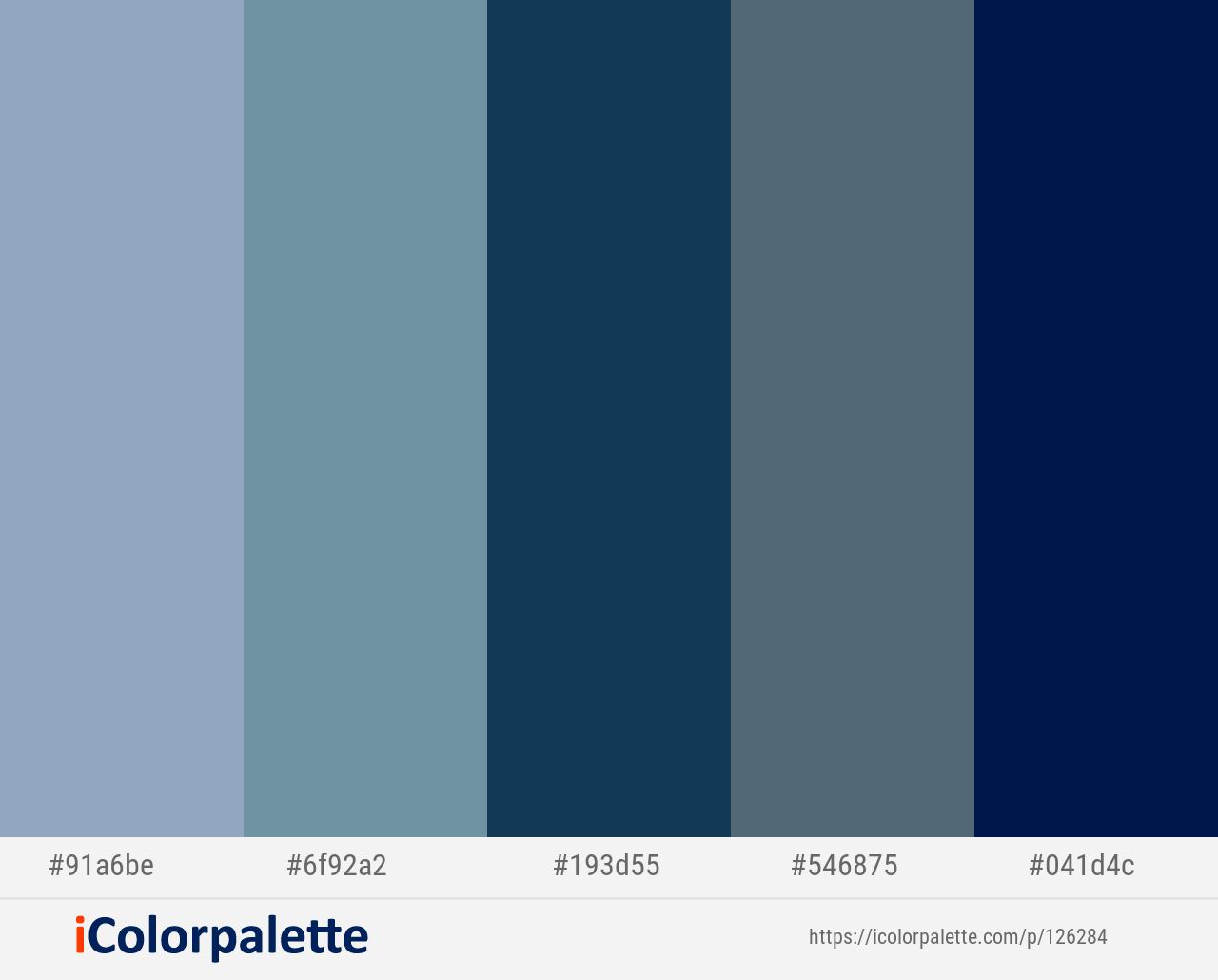 Nepal Gothic Nile Blue Blue Bayoux Gulf Blue Color Scheme Icolorpalette In 2020 Blue Colour Palette Blue Color Light Slate Grey