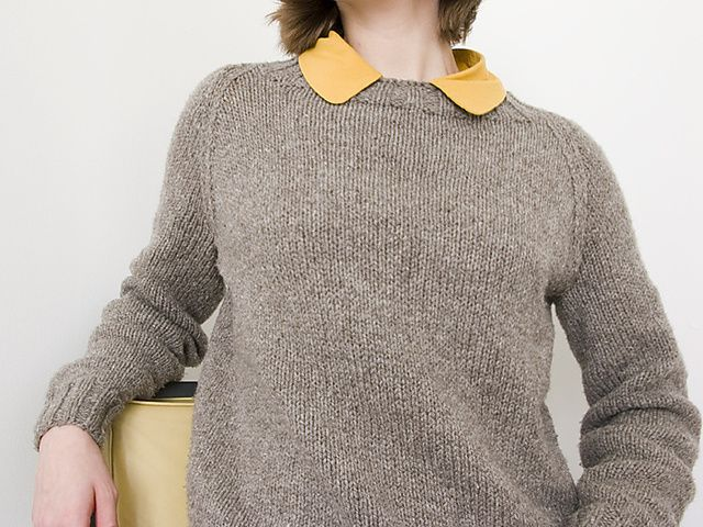 Seamless Raglan Sweater - adult pattern by Elizabeth Zimmermann ...