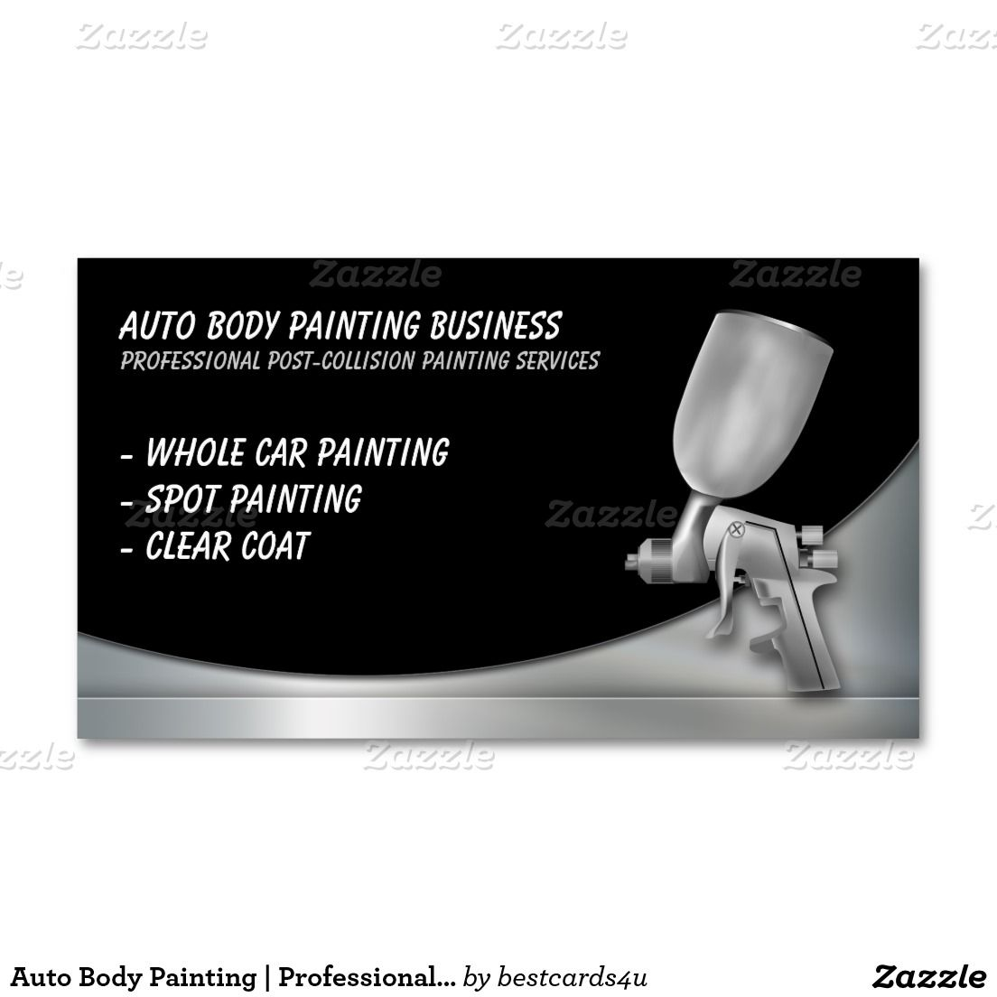 Auto Body Painting | Professional Business Card | Pinterest ...