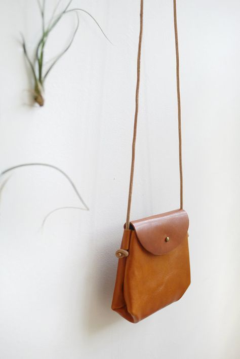 Mini Crossbody Sling - small leather shoulder bag in caramel -   16 diy bag sling ideas