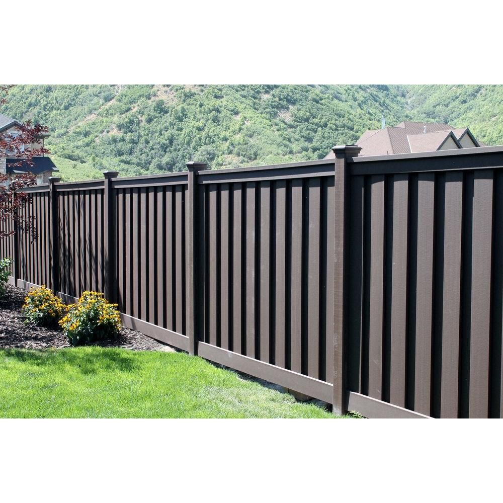 Trex Seclusions 6 Ft X 8 Ft Woodland Brown Wood Plastic Composite Board On Board Privacy Fence Panel Kit Tfbpfk68 The Home Depot Privacy Fence Panels Wood Fence Design Privacy Fence Designs