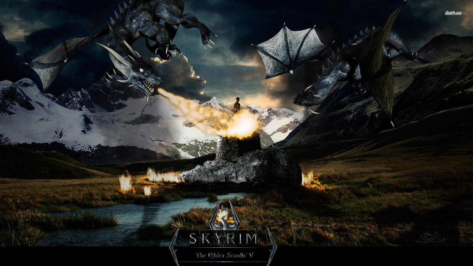 Skyrim Hd Wallpapers Backgrounds Papel De Parede Games Papel De Parede Roxo All Nature