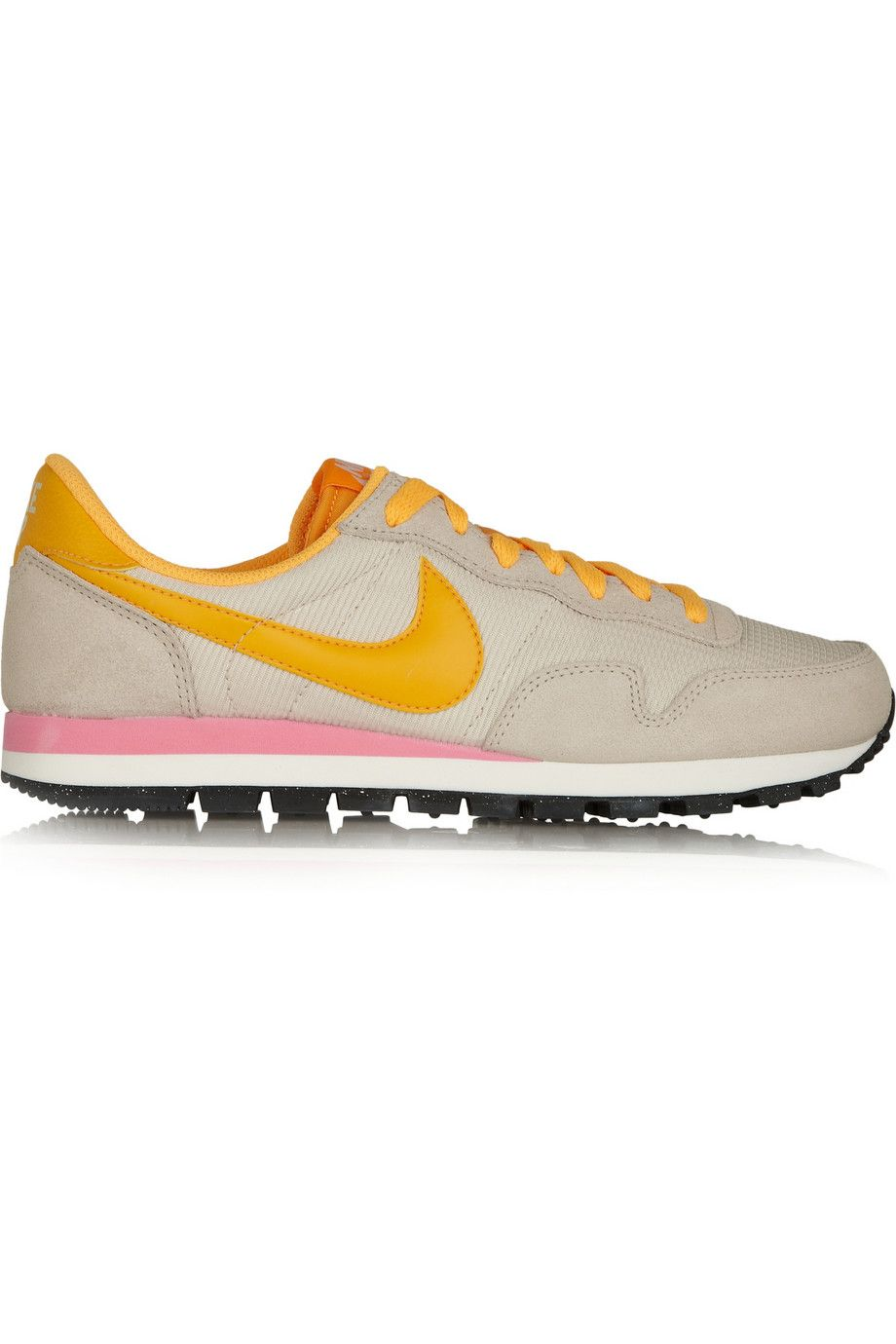 official photos dc19e c7bb3 Nike, Air Pegasus 83 leather, suede and mesh sneakers  beige pink orange