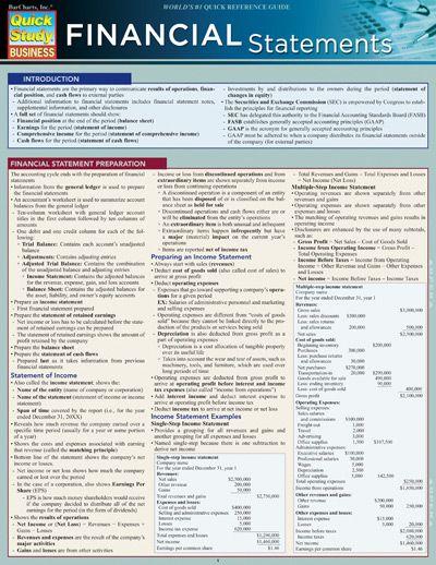 Financial Statements (9781423223832) Financial statement