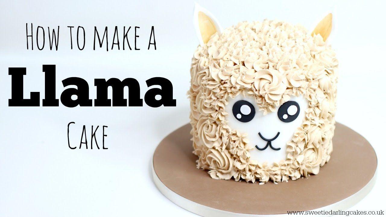 How to make a llama cake dessert decoration buttercream