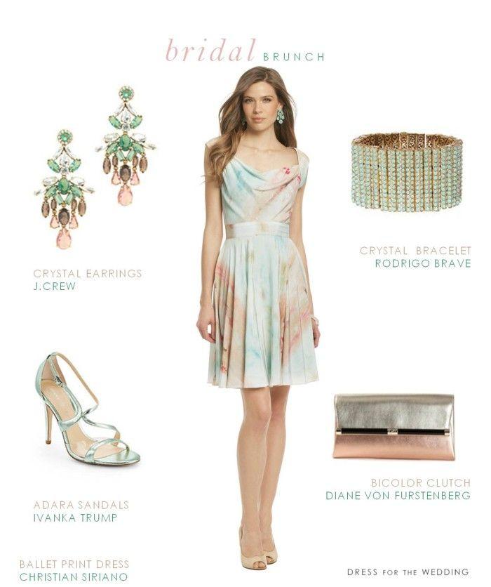 9f5959599f0 Dress for a Bridal Brunch  Pastels via  Yvette Buchanan for the Wedding
