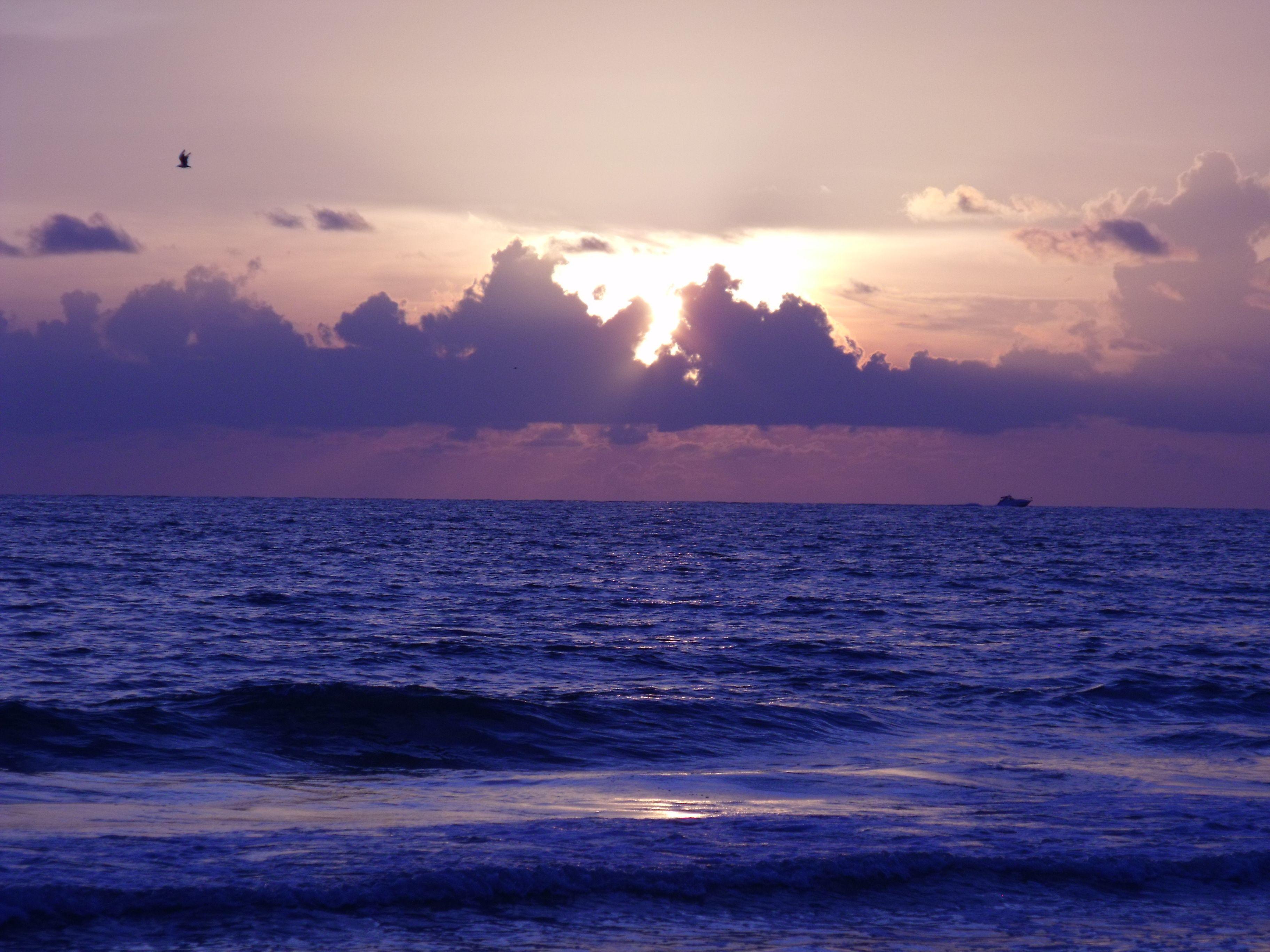 Sunsets on a beach