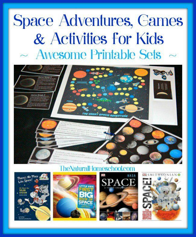 Space Adventures, Games & Activities for Kids {Printable Sets} - The Natural Homeschool