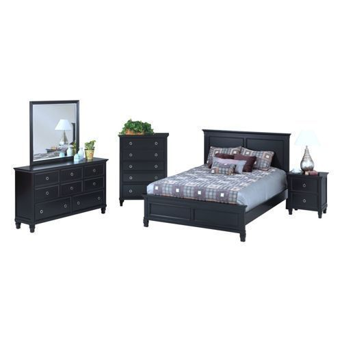 NCF Furniture - Trabuco Contemporary Cal King Bed, Nightstand
