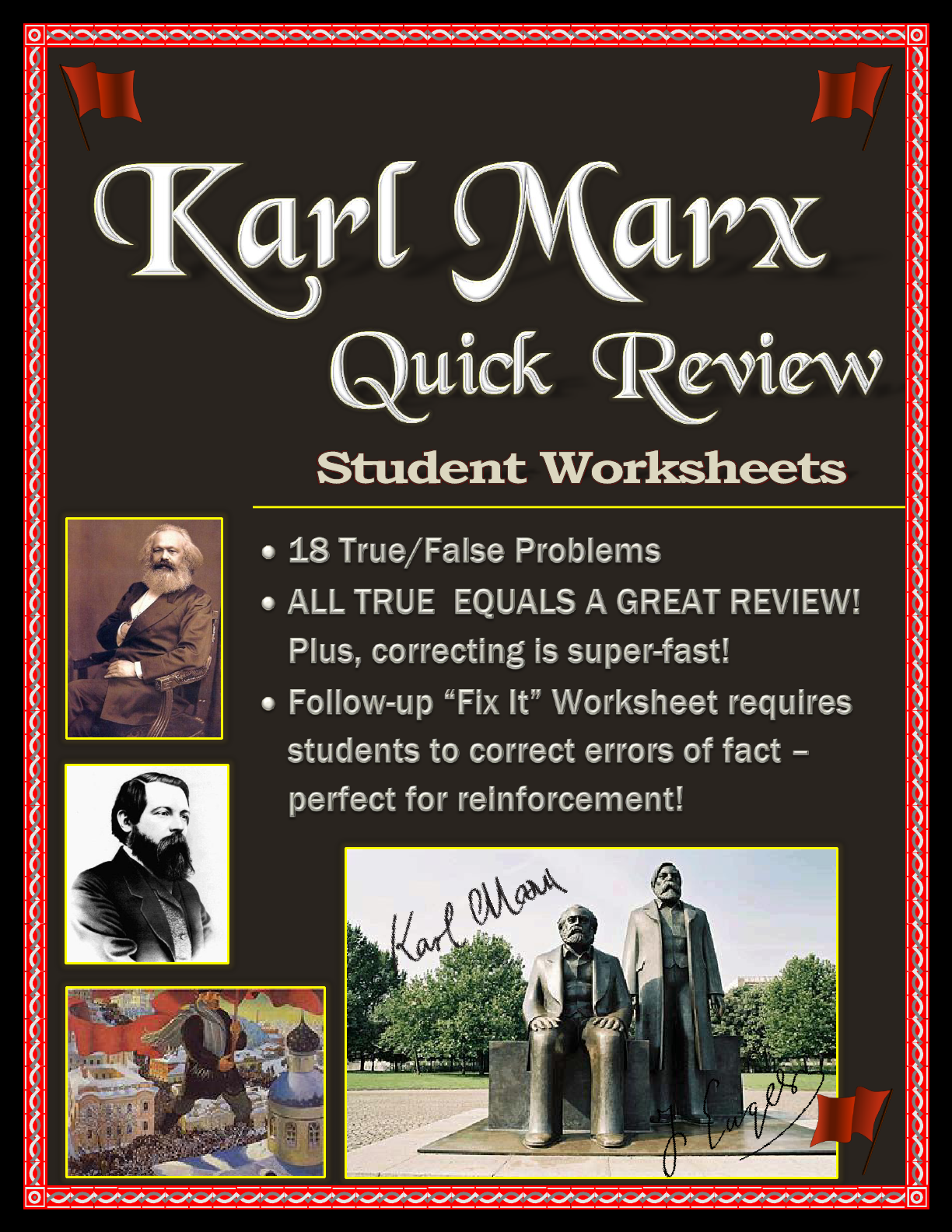 Karl Marx Worksheet Pack True False And Fix It