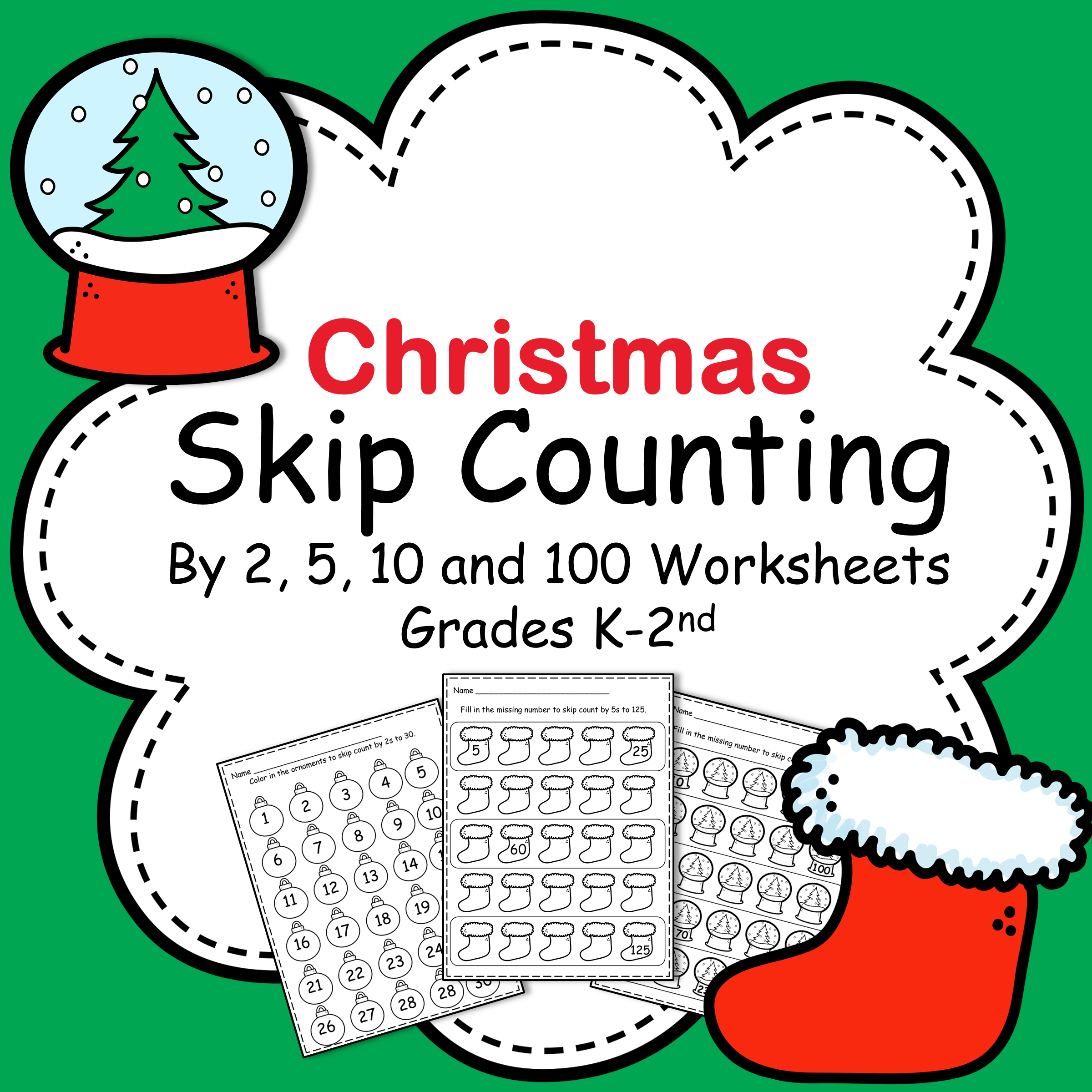 Christmas Skip Counting by 2 [ 2400 x 2400 Pixel ]