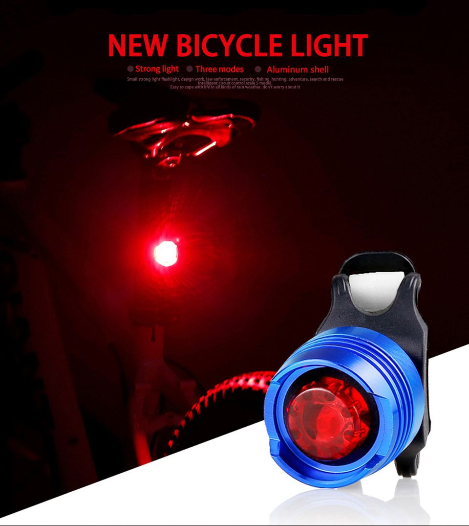 Aluminum Bicycle Waterproof Lights LED Flash Light Front Rear Tail
