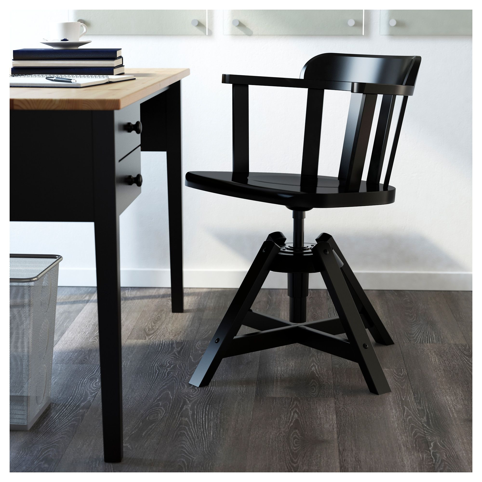 IKEA - FEODOR Swivel chair with armrests black | Products | Pinterest