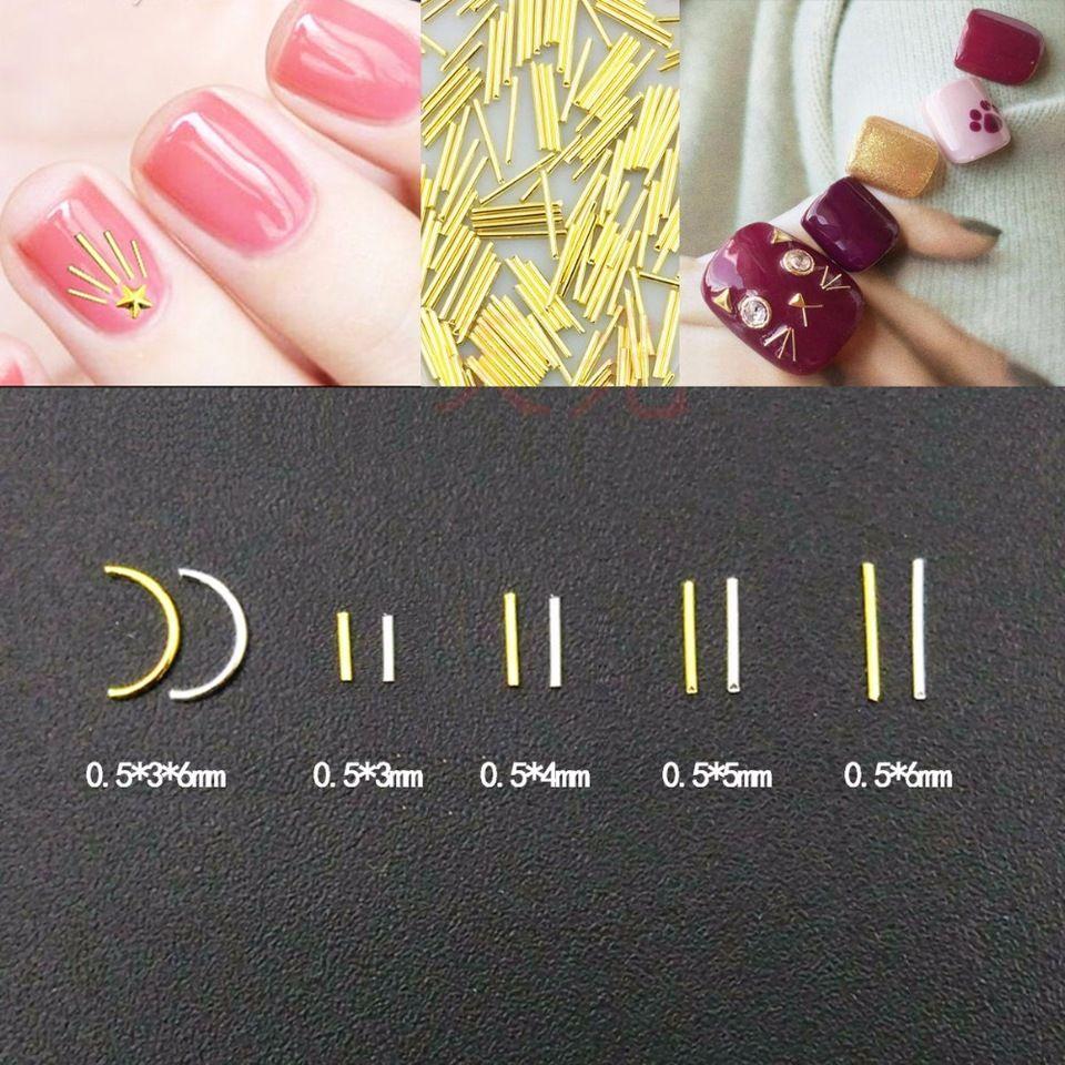 Gold Silver Metal Nail Art Design Stick On Nails Bars Alibaba