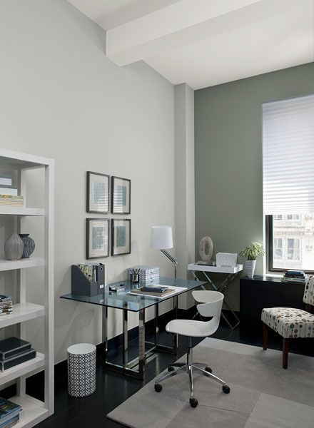 interior paint ideas and inspiration gray home offices on good office wall color id=55106