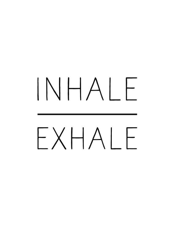 Inhale Exhale print, 3 designs for 1, minimalist, script, and color block, instant download, yoga, pilates, black and white, poster #inhaleexhale