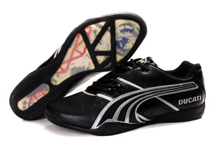 Men Puma Ducati Shoes - Black Gray