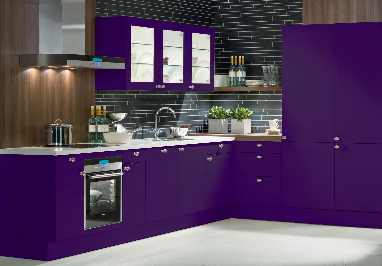 Charismatic Purple Kitchen Ideas  Purple kitchen decor, Purple