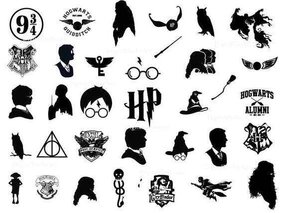 Harry Potter Svg Potter Svg Harry Potter Silhouettes Hogwarts Svg Gryffindor Svg Instant Downl Harry Potter Tattoos Digitales Papier Harry Potter Zeichen