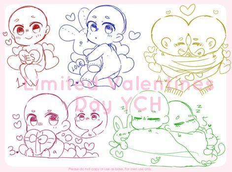 Closed Valentines Day Ych Set Price By Maymorin ภาพวาด Pinterest