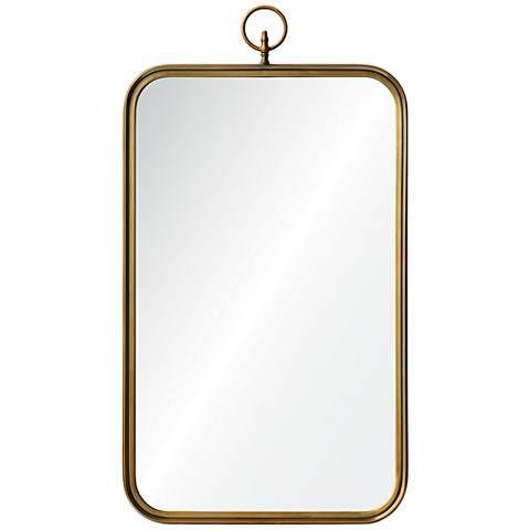 Coburg Golden Brass 22 X 36 Rectangular Wall Mirror In 2018 For