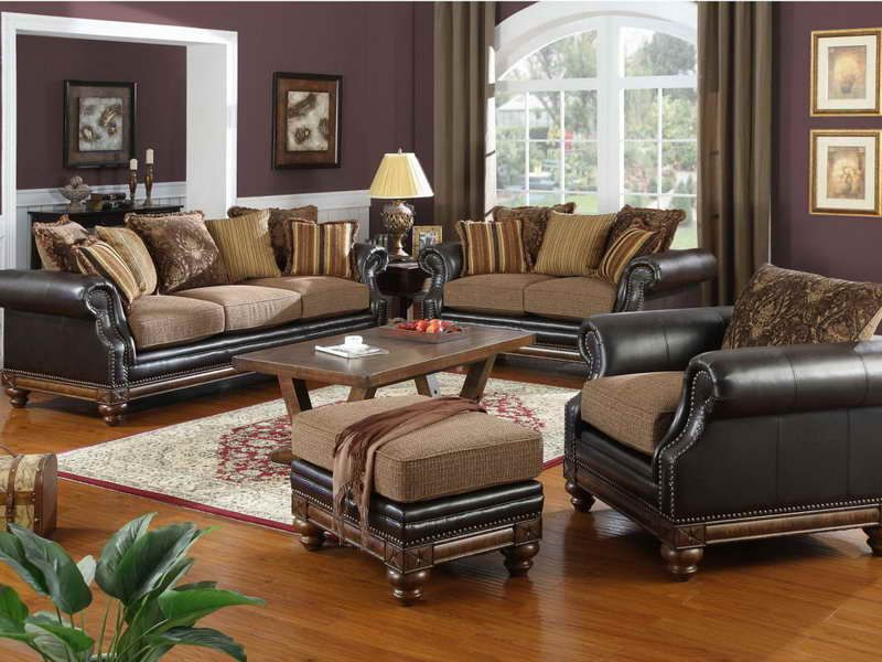 Living Room Furniture Arrangement With Dark Brown Wall Part 7