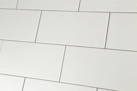 Metro Flat White Matt Wall Tiles 10x20cm Wall Tiles Tiles White Flats