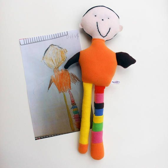 92031d772ea1 Soft toys from drawings - Kid's art turn into softie - Custom plush from  children's painting - Birthday gift for kids