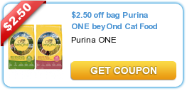 250 Off Bag Purina One Beyond Cat Food Catfood Purina Coupons