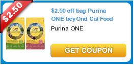 2 50 Off Bag Purina One Beyond Cat Food Catfood Purina Cat