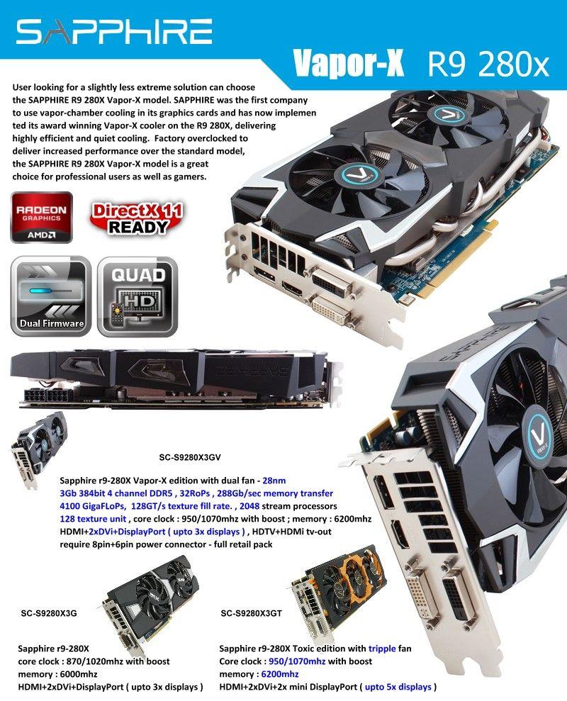 Sapphire Vapor-X R9 280x | Sapphire | Electronics