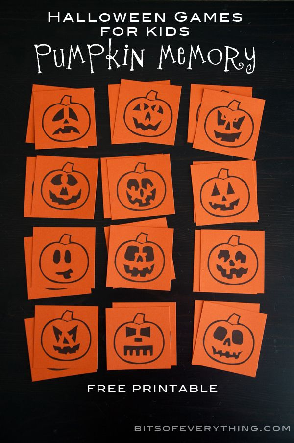 Printable Halloween Games for Kids {30 Days of Halloween