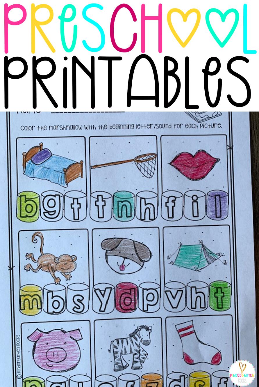 Summer Printables For Preschool Getting Ready For Kindergarten Rhyming Activities Kindergarten Rocks Preschool Books [ 1329 x 891 Pixel ]