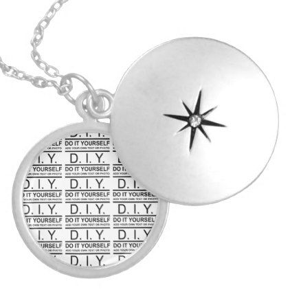 Personalized custom color diy do it yourself silver plated necklace solutioingenieria Images