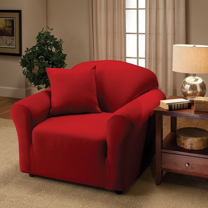 Jersey Stretch Chair Slipcover With Pillow At Kohl S Affiliate