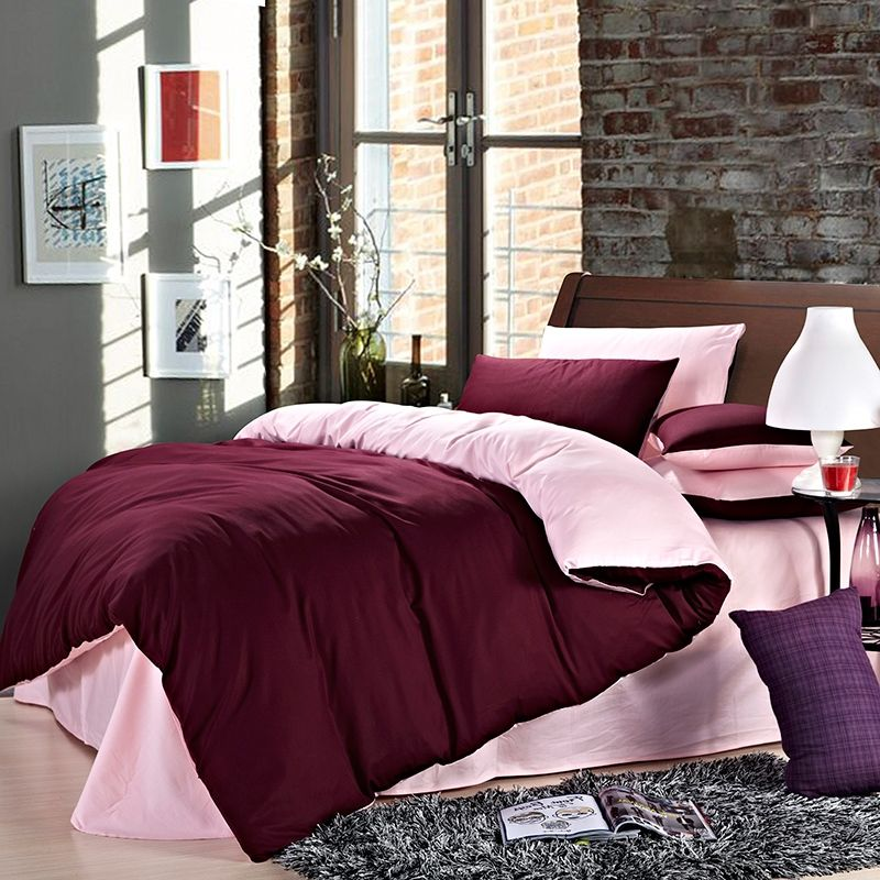 marvelous maroon color bedroom | Maroon Red and Pink Womens Solid Color Simply Chic Vogue ...