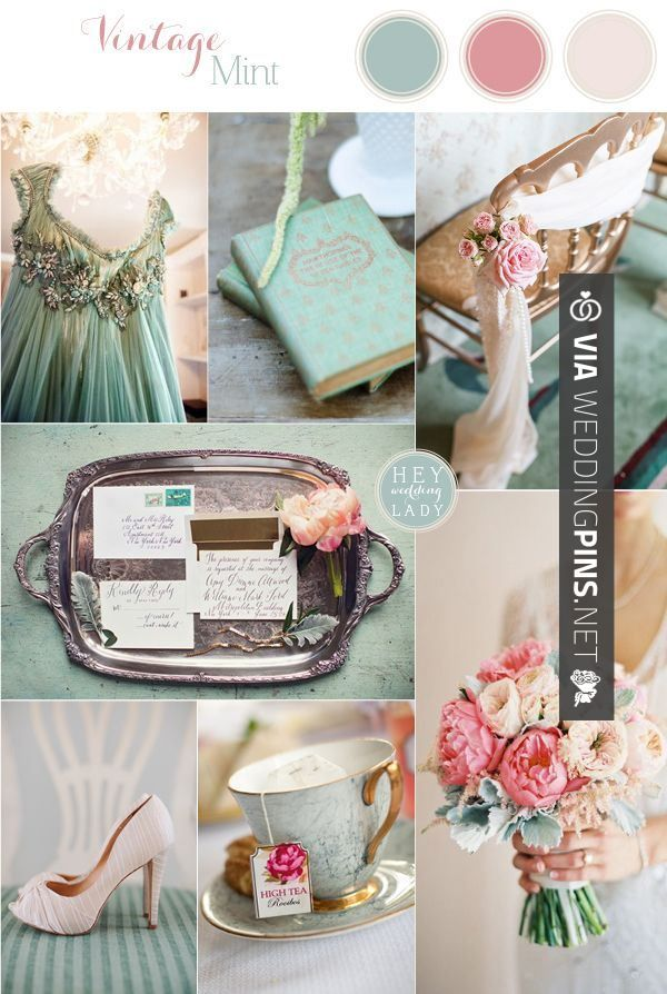 Wedding Colour Schemes 2017 Vintage Mint Sea Foam And Blush Inspiration