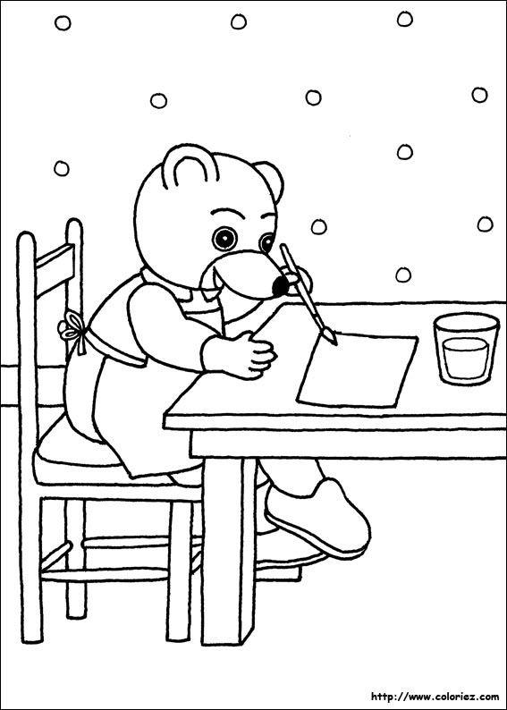 Petit ours brun dessine impressions pour cahier - Coloriage a imprimer petit ours brun ...