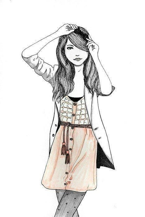 Drawing for girls cute drawing fashion fashion art for Cute drawings for a girlfriend