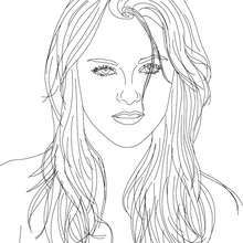 KRISTEN STEWART coloring page - Coloring page - FAMOUS PEOPLE ...