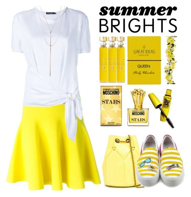 """""""#713 Summer Brights: 13/06/16"""" by pinky-chocolatte ❤ liked on Polyvore featuring P.A.R.O.S.H., Dolce&Gabbana, Lana, Acqua di Parma, Moschino, Wild & Wolf, Maybelline, Jérôme Dreyfuss and Joshua's"""