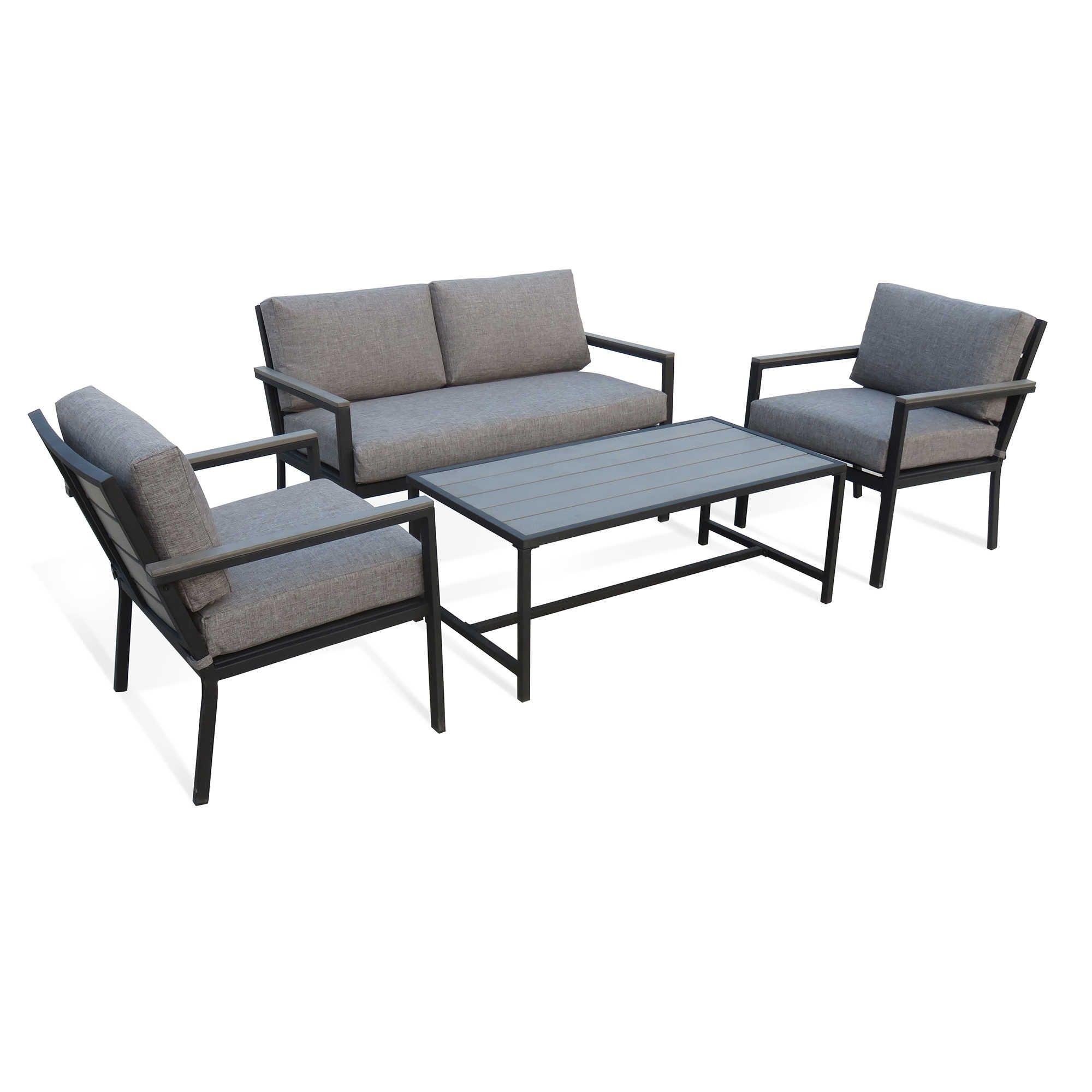 Summerwinds 4 Piece Outdoor Conversation Set Outdoor Conversation Sets Outdoor Sofa Outdoor Furniture Sets