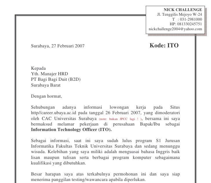 Contoh Surat Lamaran Kerja Untuk Hotel Contoh Surat Lamaran Kerja Untuk Perawat Contoh Surat Lamaran Kerja Untuk Posisi Cr Surat Surat Lamaran Pekerjaan Person